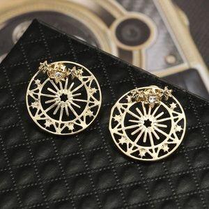 Jewelry - Gold/Crystal Star Studs w/Filagree Earring Jackets